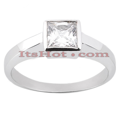 14K Gold Solitaire Engagement Ring 0.30ct 4.5mm Main Image