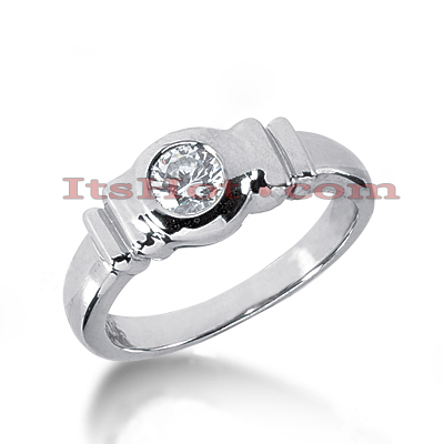 14K Gold Solitaire Engagement Ring 0.35ct Main Image