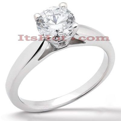 14K Gold Solitaire Engagement Ring 0.40ct Main Image