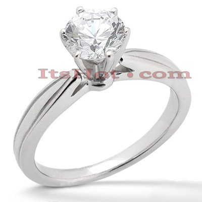 14K Gold Solitaire Engagement Ring 0.40ct