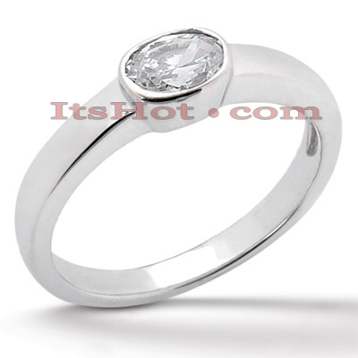 14K Gold Solitaire Engagement Ring 0.50ct 3.23mm Main Image