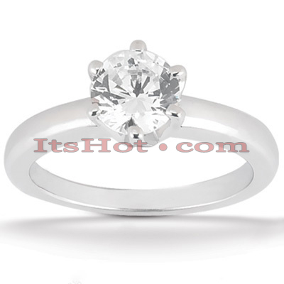 14K Gold Solitaire Engagement Ring 0.50ct 2.45mm Main Image