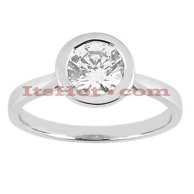 14K Gold Solitaire Engagement Ring 0.50ct Main Image