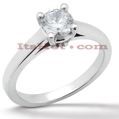 14K Gold Solitaire Engagement Ring 0.51ct Main Image