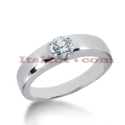 14K Gold Solitaire Engagement Ring 0.60ct Main Image