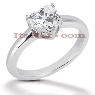 14K Gold Solitaire Engagement Ring 0.75ct 2.7mm Main Image
