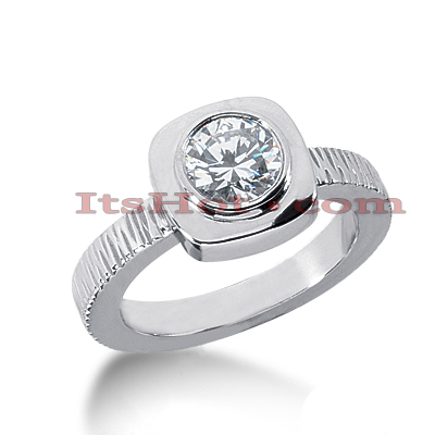14K Gold Solitaire Engagement Ring 0.90ct