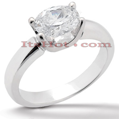 14K Gold Solitaire Engagement Ring 1.25ct Main Image