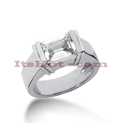 14K Gold Solitaire Engagement Ring 1.50ct Main Image