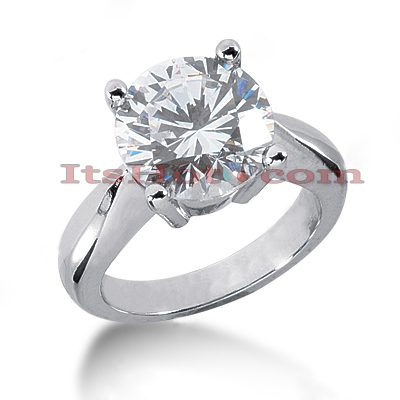 14K Gold Solitaire Engagement Ring 5ct