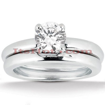 14K Gold Solitaire Engagement Ring Set 0.50ct Main Image