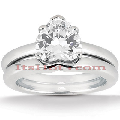 14K Gold Solitaire Engagement Ring Set 0.75ct Main Image