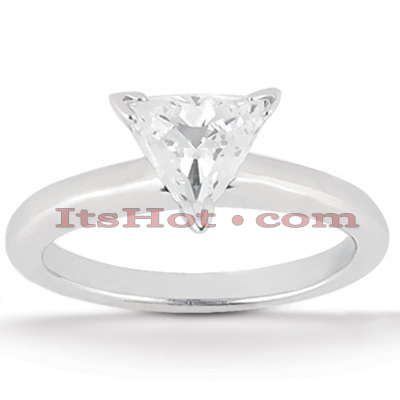 14K Gold Three-Prong Solitaire Engagement Ring 0.50ct Main Image