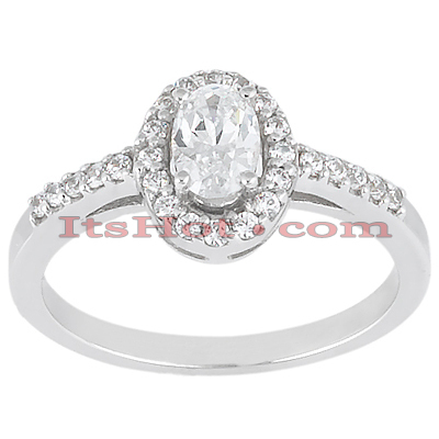 14K Gold Unique Diamond Engagement Ring 0.49ct Main Image