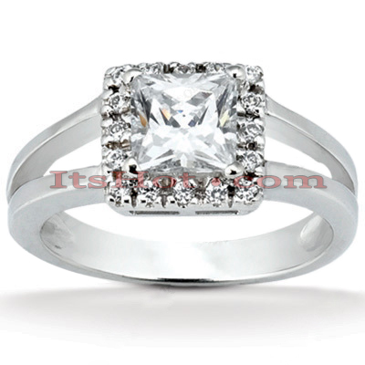 14K Gold Unique Diamond Engagement Ring 0.56ct Main Image