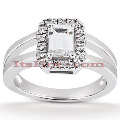 14K Gold Unique Diamond Engagement Ring 0.64ct Main Image