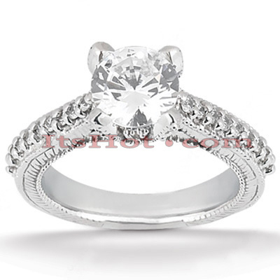 14K Gold Unique Diamond Engagement Ring 0.74ct Main Image