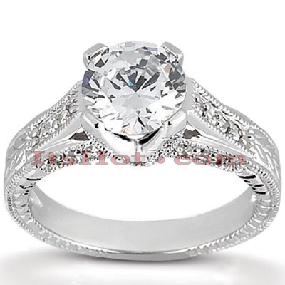 14K Gold Unique Diamond Engagement Ring 0.82ct