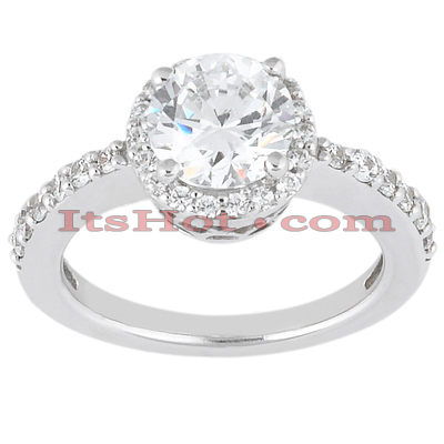14K Gold Unique Diamond Engagement Ring 0.86ct Main Image