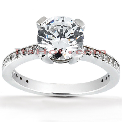 14K Gold Unique Diamond Engagement Ring 0.89ct Main Image