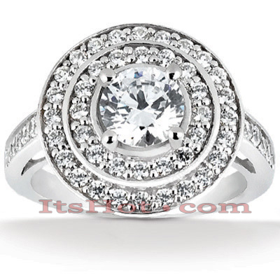 14K Gold Unique Diamond Engagement Ring 1.01ct Main Image