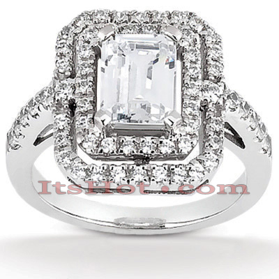 14K Gold Unique Diamond Engagement Ring 1.16ct Main Image