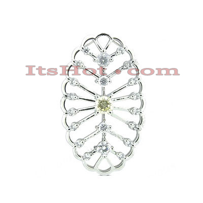 14K Gold Unique Diamond Pendant 1.38ct Main Image