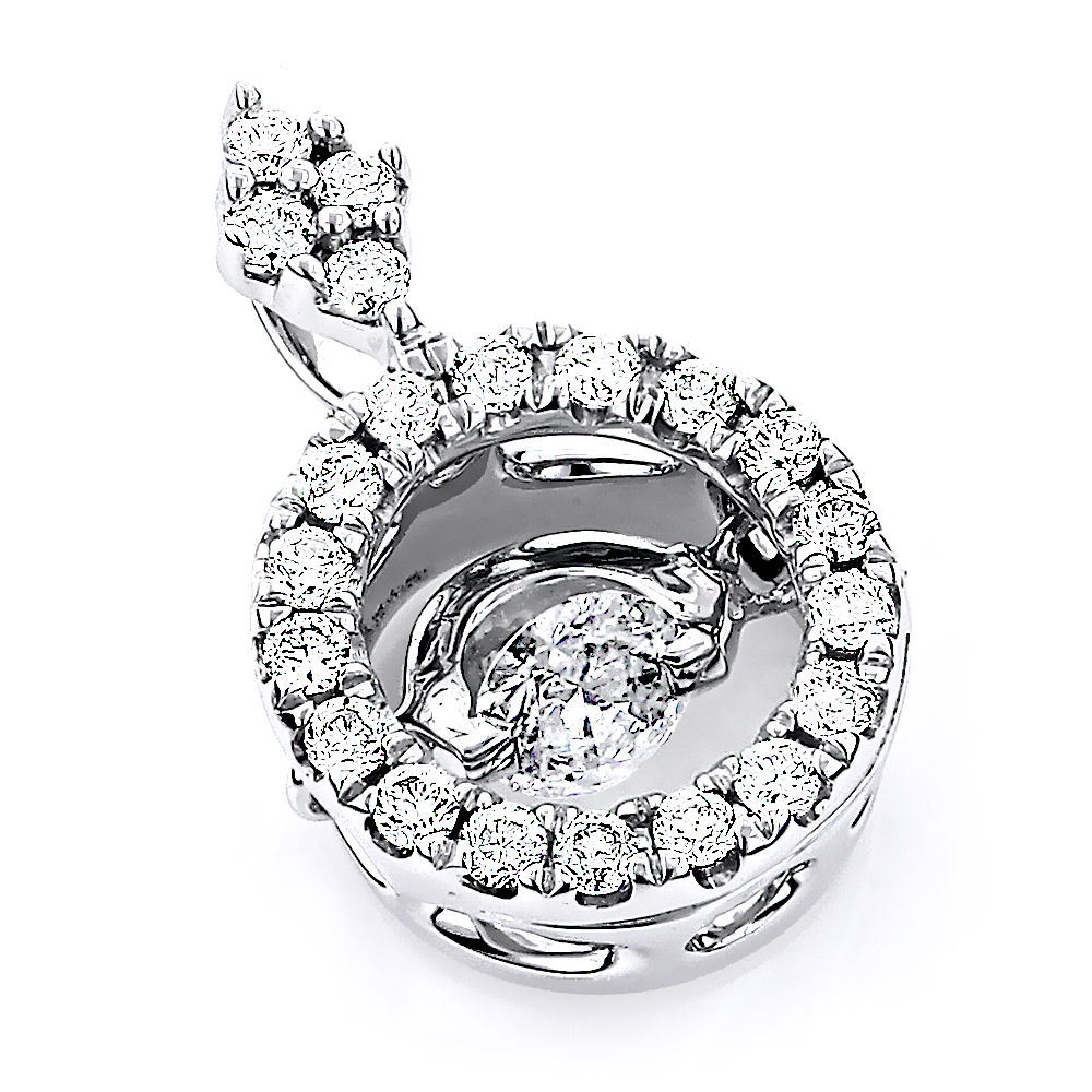 14K Gold Women's Circle Dancing Diamond Pendant 0.4ct Main Image