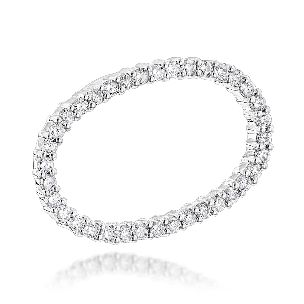 14K Gold Women's Diamond Necklace 0.72ct White Image