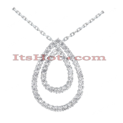 14K Gold Women's Diamond Pendant 1.68ct Main Image