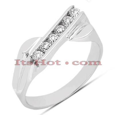 Thin 14K Gold Women's Diamond Ring 0.21ct Main Image