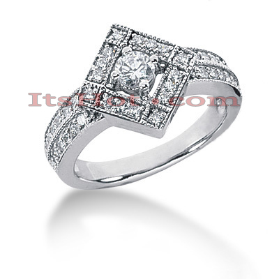 14K Gold Women's Diamond Ring 0.60ct Main Image