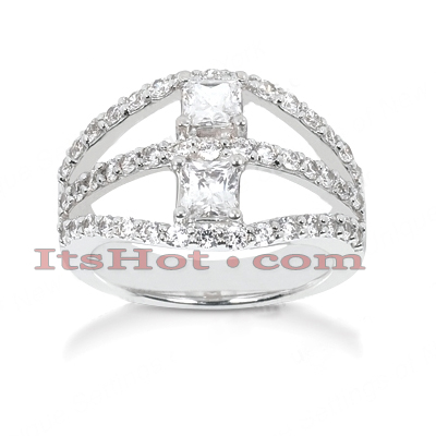 14K Gold Women's Diamond Ring 1.70ct Main Image