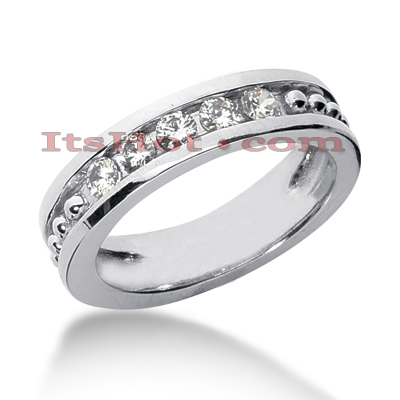 14K Gold Women's Diamond Wedding Band 0.60ct Main Image