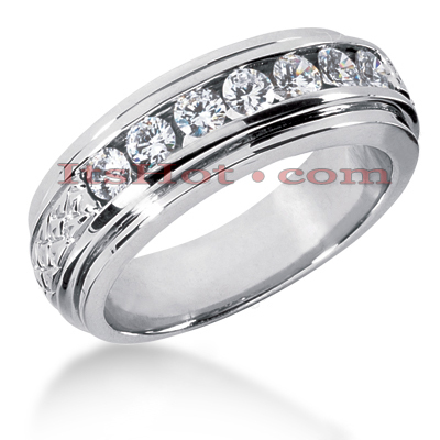 14K Gold Women's Diamond Wedding Band 0.84ct Main Image
