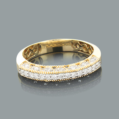 my eternity love milgrain bands wedding gold sets couples ring band in anniversary diamond