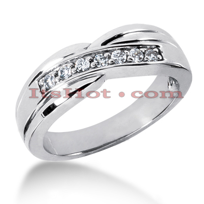14K Gold Women's Diamond Wedding Ring 0.21ct Main Image
