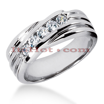 14K Gold Women's Diamond Wedding Ring 0.40ct