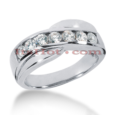 14K Gold Women's Diamond Wedding Ring 0.56ct Main Image