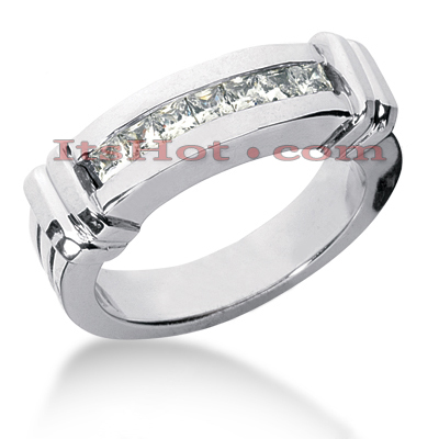 14K Gold Women's Diamond Wedding Ring 0.70ct
