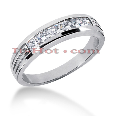 14K Gold Women's Diamond Wedding Ring 0.70ct Main Image