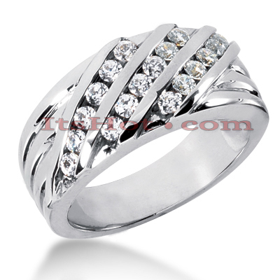 14K Gold Women's Diamond Wedding Ring 0.72ct Main Image