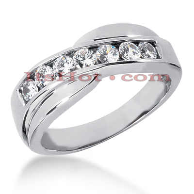 14K Gold Women's Diamond Wedding Ring 0.84ct Main Image
