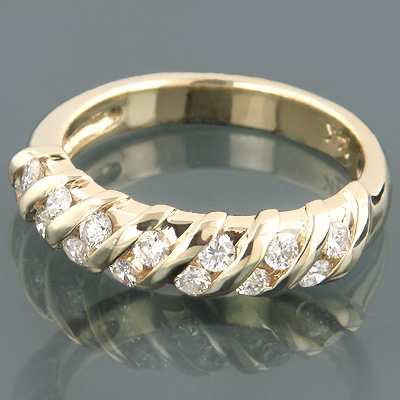 14K Gold Womens Round Diamond Band 0.34ct Main Image