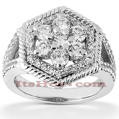 14K Ladies Cluster Diamond Ring 0.81ct Main Image