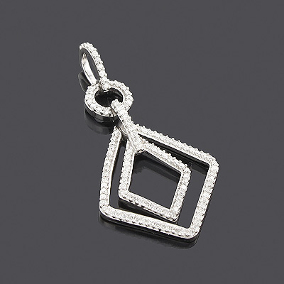 14K Ladies Diamond Pendant 0.35ct Main Image