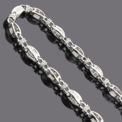 14K Mens Diamond Chain Necklace 19.60ct Main Image