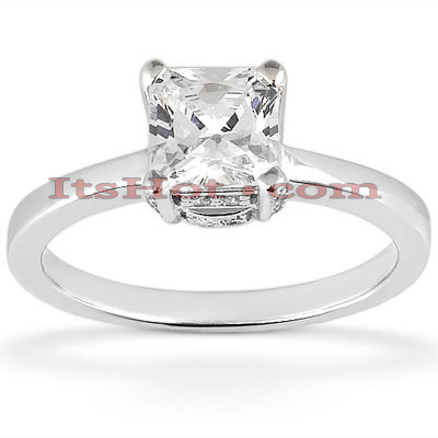 14K Princess Cut Diamond Engagement Ring 0.84ct Main Image