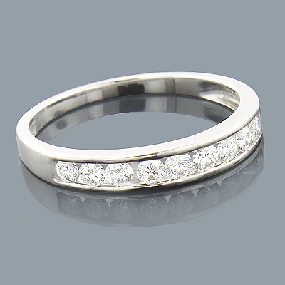 Thin 14K Gold Round Diamond Wedding Band for Women 0.25ct Main Image