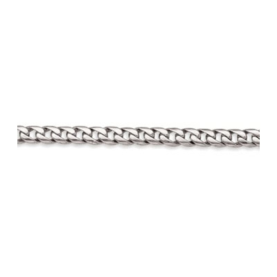 14K Solid White Gold Miami Cuban Link Chain 8mm, 20in - 40in Main Image